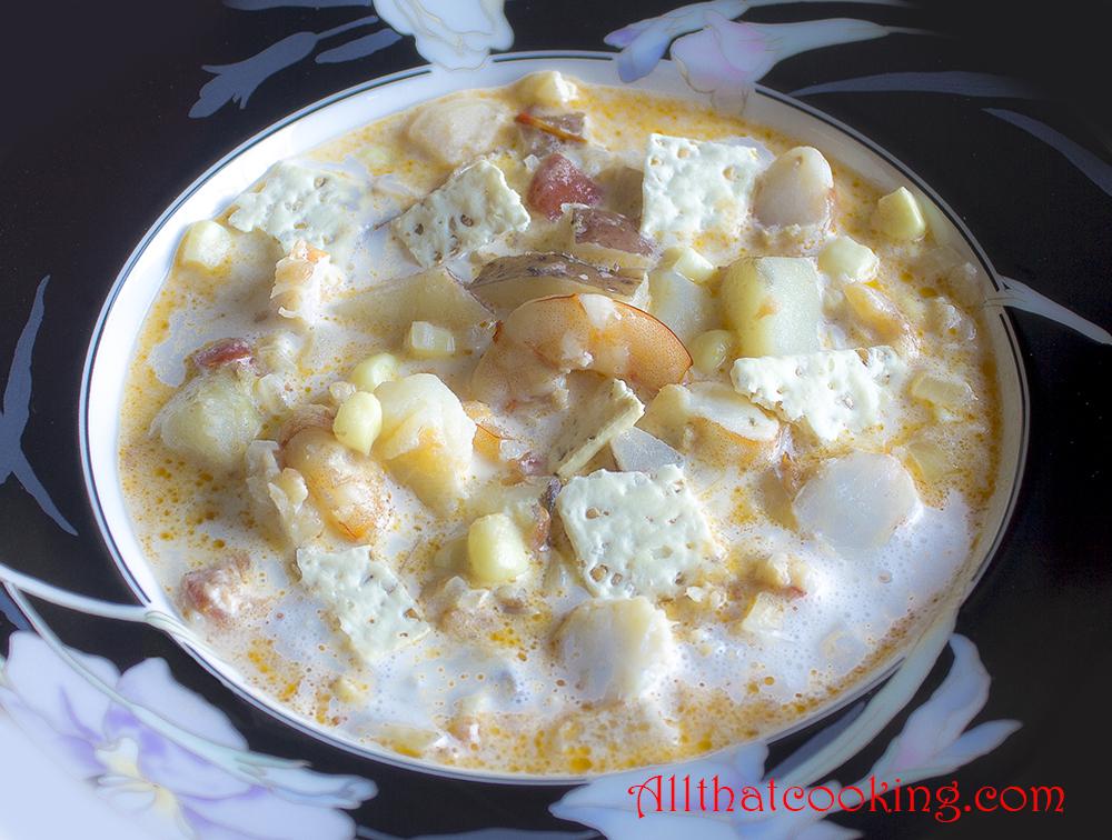 Clam chowder, fish chowder, corn chowder. . .