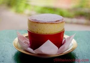 Passionfruit souffle
