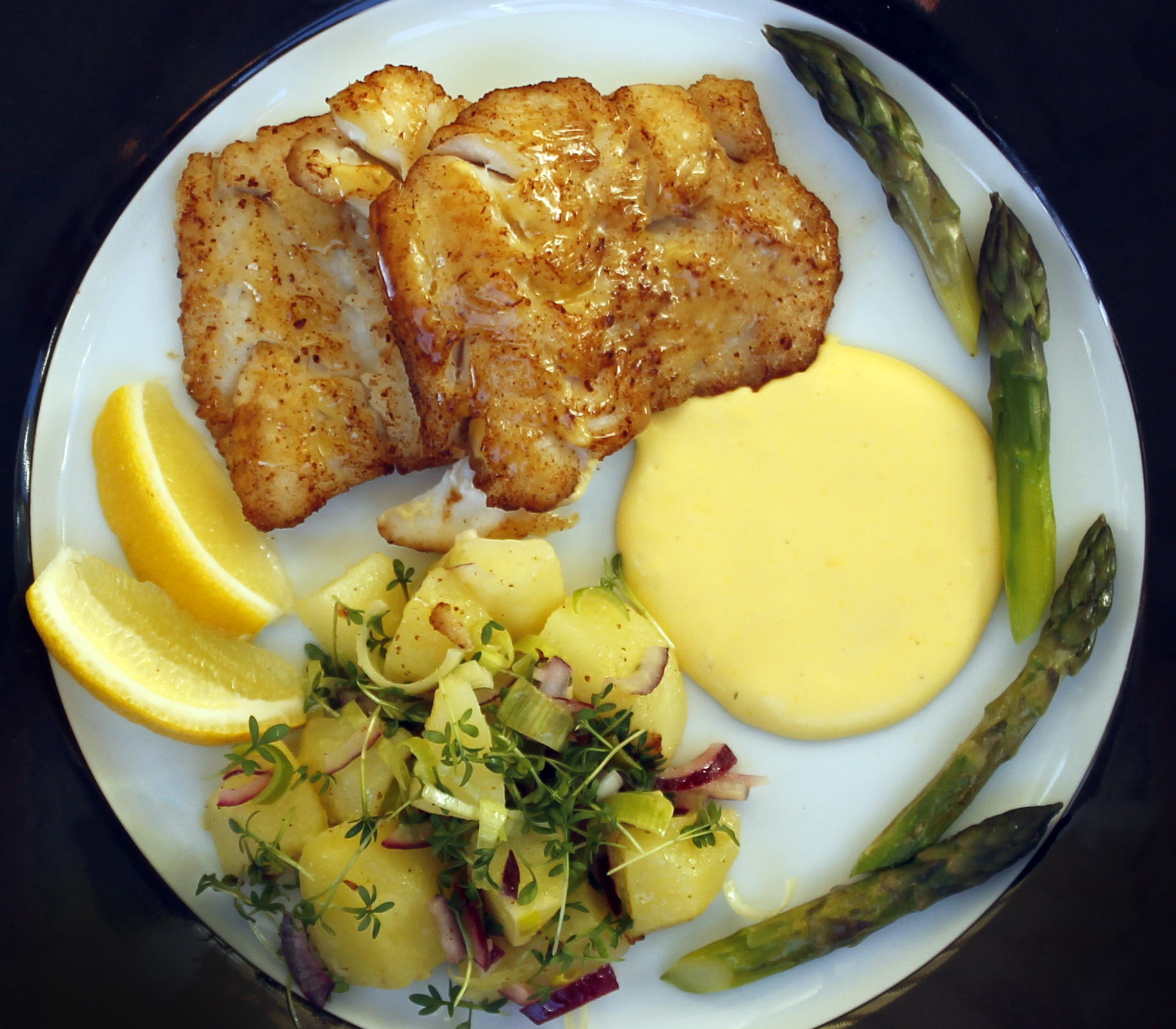 Pan Fried Haddock Hollandaise All That Cooking
